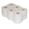Midi poetspapier op rol met koker recycled 2 laags