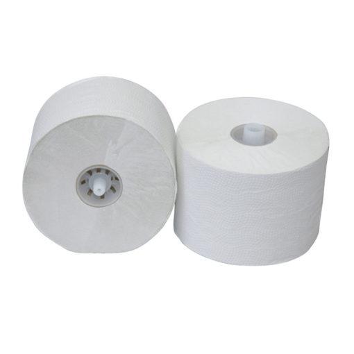 Toiletpapier luxe crepe 1-laags met dop